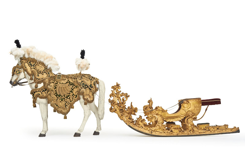 Vienna Court Carousel Sleigh. From The Museum of Fine Arts Houston Cloaked in Magnificent Opulence