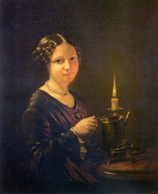 Vasily Tropinin - Girl with a candle