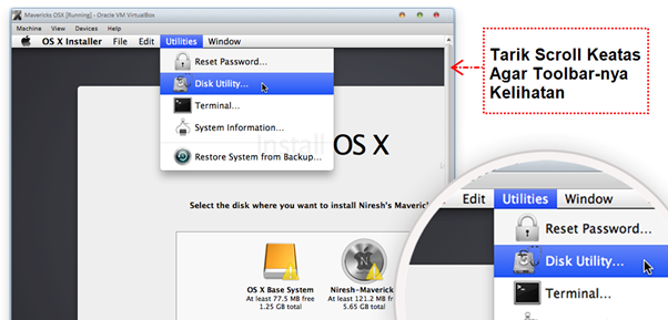 Akses Disk Utility