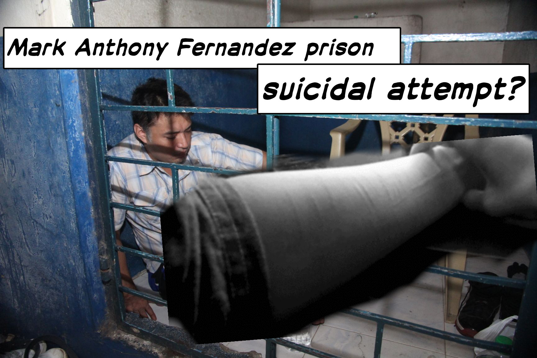 Image of Mark Anthony Fernandez Suicide Attempt in Jail?