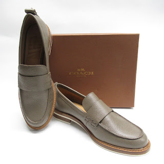 Coach NEW Pebbled Leather Loafers