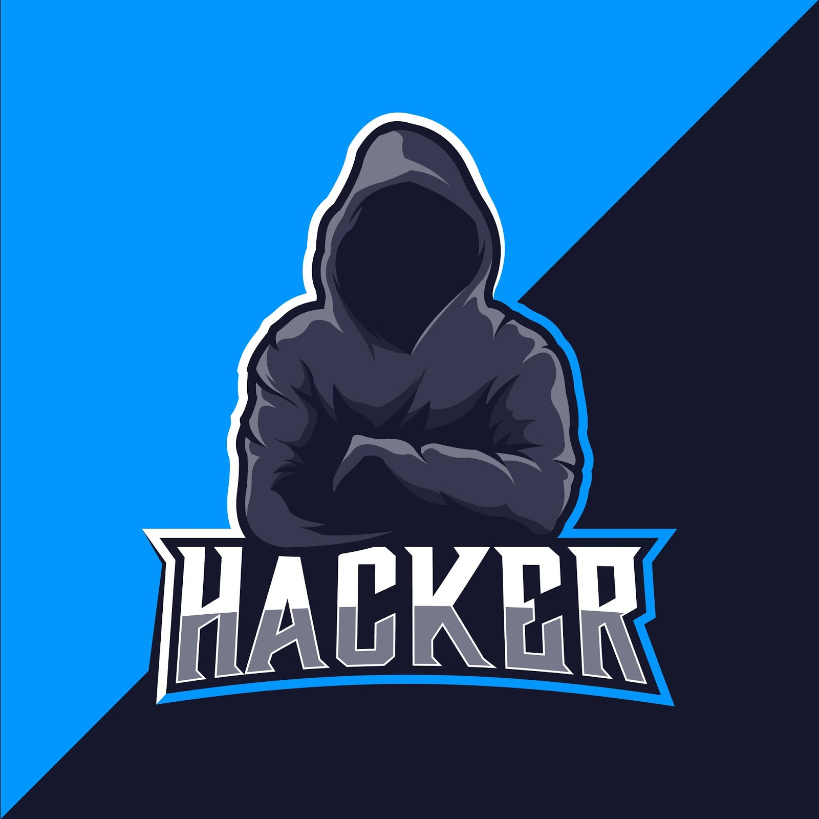 Hacker Logo Esport Free Download Vector CDR, AI, EPS and PNG Formats