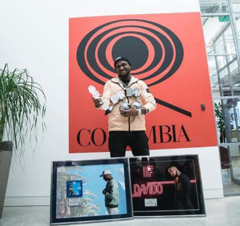 Davido's Songs 'IF' And 'FALL' Hit Diamond And Platinum Sales Certification (Photos)