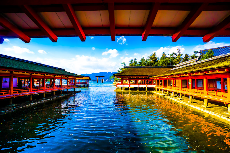 Miyajima Itsukushima Shrine East Corridor O-torii Gate (the great Torii)2