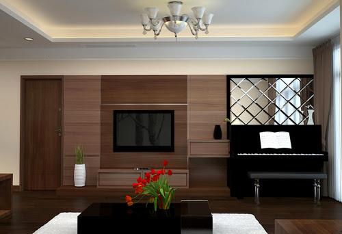 Thiết kế nội thất phòng khách căn hộ số 2