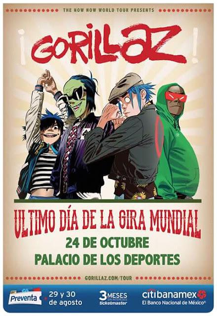 ¡GORILLAZ EN MÉXICO!