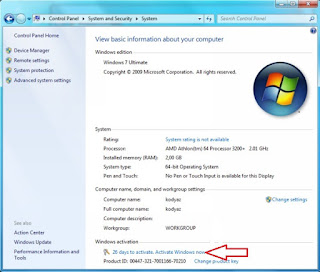 Product Key Windows 7 Ultimate 64 Bit