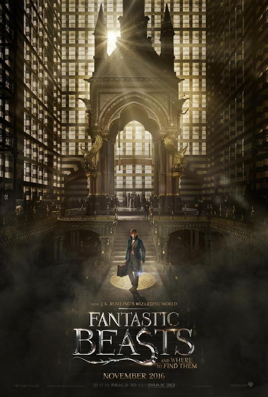 Primeiro poster e trailer oficiais de Animais Fantásticos e Onde Habitam