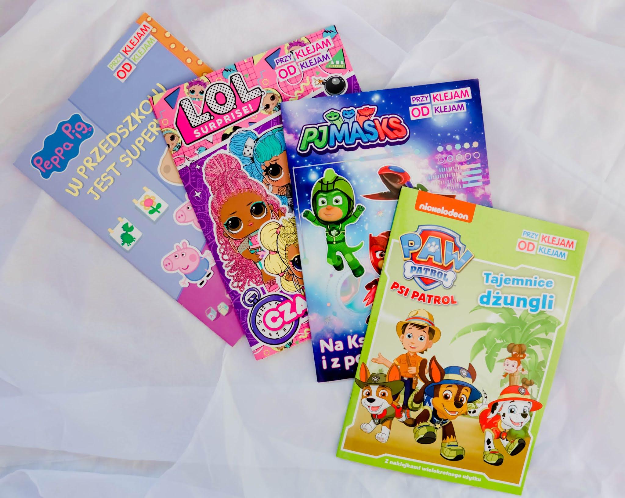 książeczki dla dzieci z naklejkami