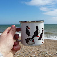 Puffin mug left by Alice Draws The Line