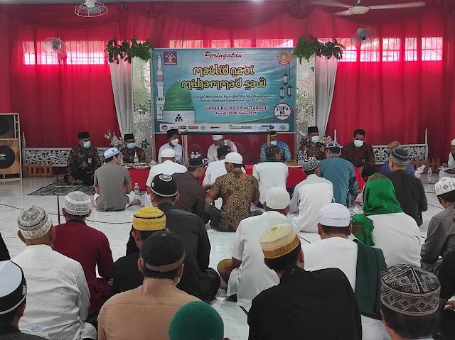 Bersama Warga Binaan, Petugas Lapas Kotabaru Peringati Maulid Nabi
