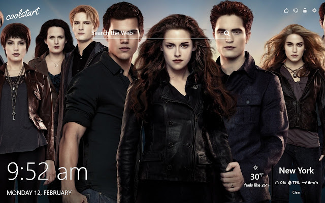 Twilight Saga HD Wallpapers New Tab Theme