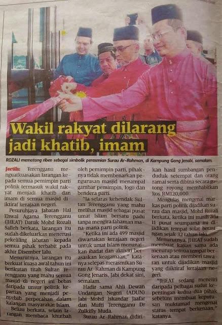 YB UMNO Tganu Mesti Gembira