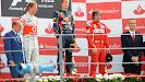 2011 Italian F1 GP podium: 1. Vettel, 2. Button 3. Alonso