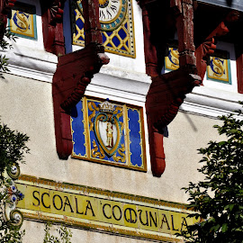 scoala comunala... by Mihai Nita - Buildings & Architecture Other Exteriors ( old school, street view, old clock,  )