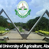 JUST IN: FUNAAB Releases Cut-Off Marks For 2017/2018 Admission Exercise