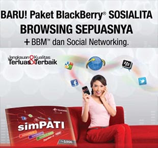 Paket Blackberry Telkomsel Sosialita