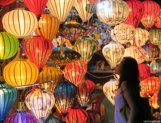 Beautiful lanterns for sale in Hoi An.