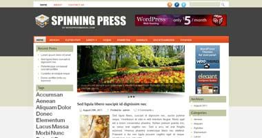 Free Wordpress Theme - Spinningpress