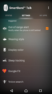 SmartBand Talk SWR30 Screenshot 3