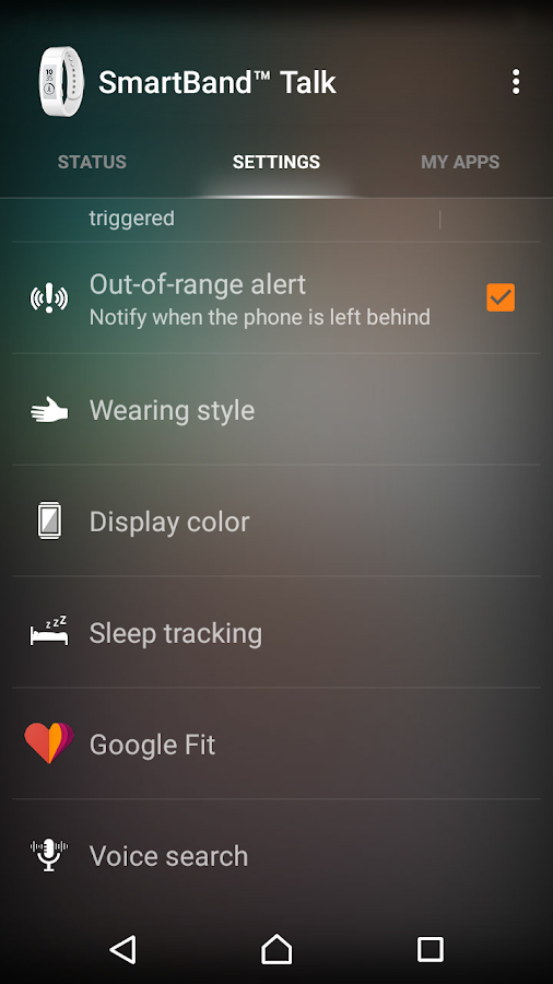 SmartBand Talk SWR30- screenshot