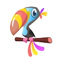 Cartoon Tucan Bird Free Download Vector CDR, AI, EPS and PNG Formats