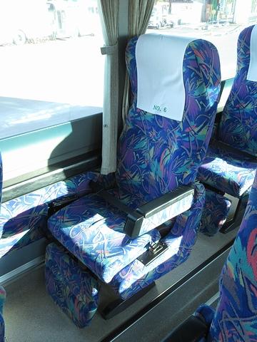 道北バス「サンライズ旭川釧路号」 1040 シート