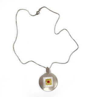 Sterling Silver & 24K Gold Pendant Necklace