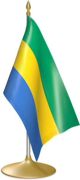 Gabonese table flags - desk flags