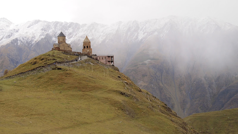 Tsminda Sameba church in Kazbegi