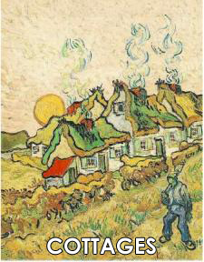 Vincent van Gogh Paintings of Cottages