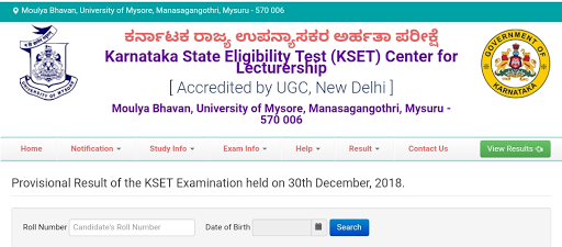 kSET: Click on the link below to see the results of the Karnataka State Lecturer Eligibility Test