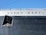 I like this shot of the Queen Mary's name