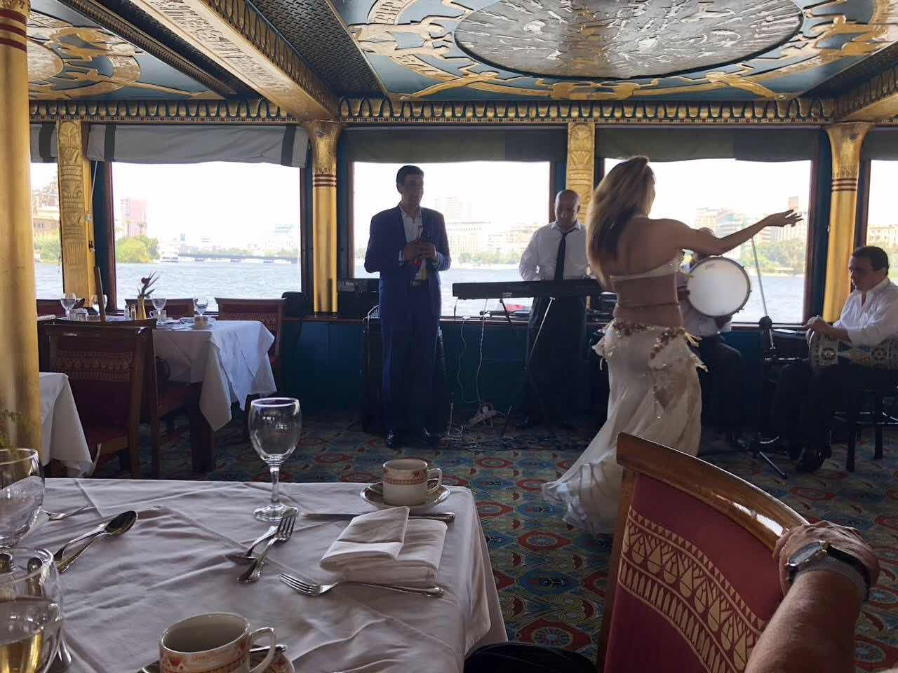 Belly dancer on our Nile river boat
