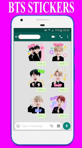 BTS Stickers for Whatsapp - WAStickerApps 2.0 screenshots 2