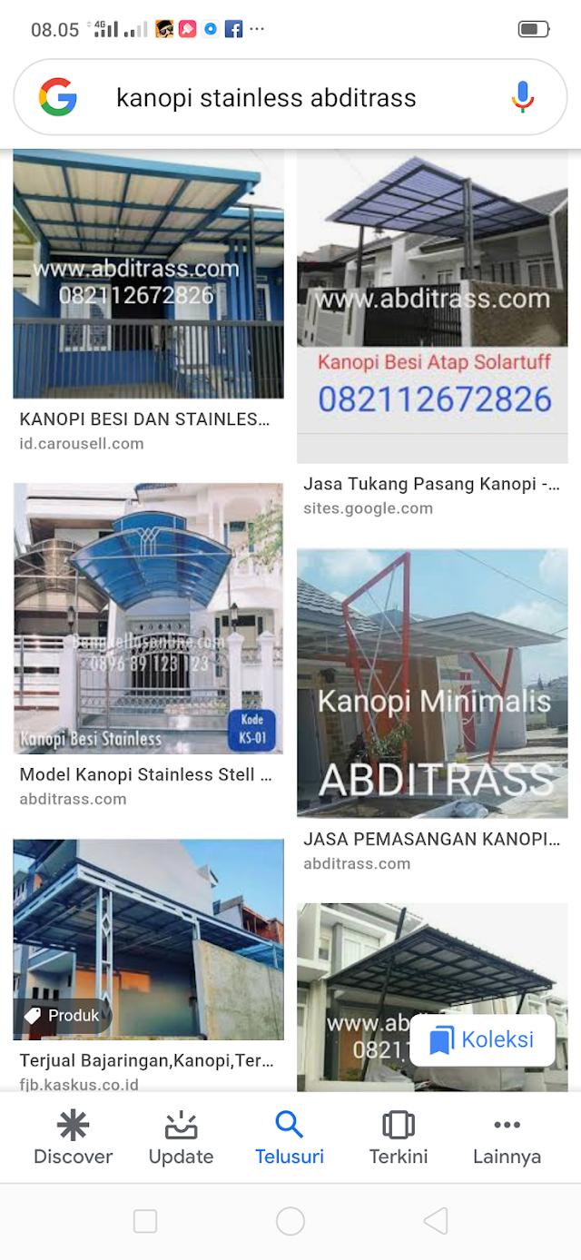 ABDITRASS - Jasa Tukang Pasang Kanopi Stainless Steel di Bogor Terbaik