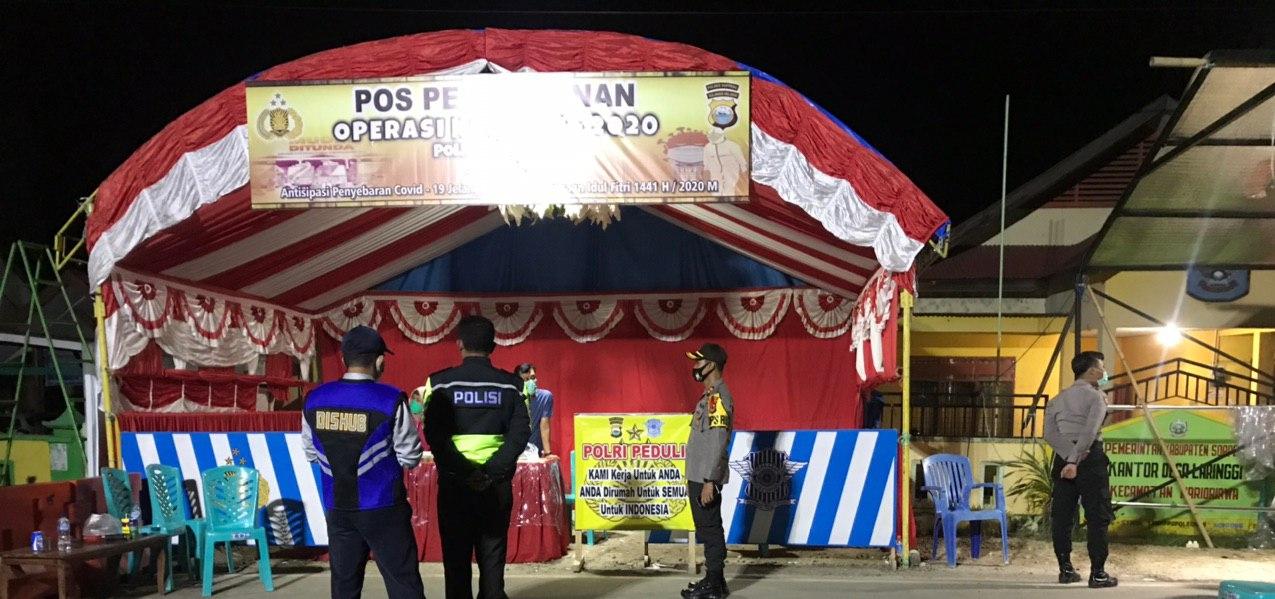 Kapolres Soppeng Beri Support pada Petugas Gabungan di Perbatasan