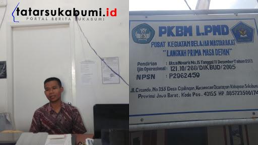 Endin Spd Kepala PKBM-LPMD Kecamatan Cicantayan Sukabumi // Foto : Dian Syahputra Pasi