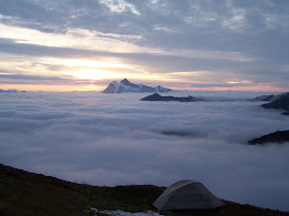 Shuksan in sunrise clouds.