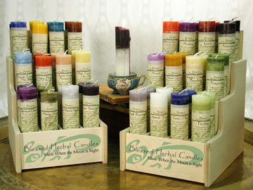 Blessed Herbal Candles, Candle Magic