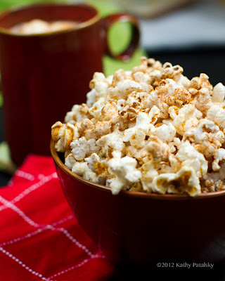 A close up of a bowl of Popcorn