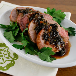 Roast Beef with Simple Madeira Sauce.