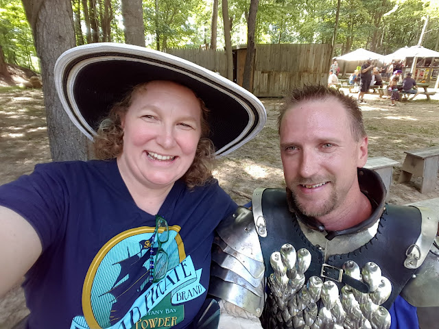 Me with Sir Thomas of Her Majesty's Royal Guards. From Come Hither! 7 Tips for Visiting Black Rock Medieval Fest