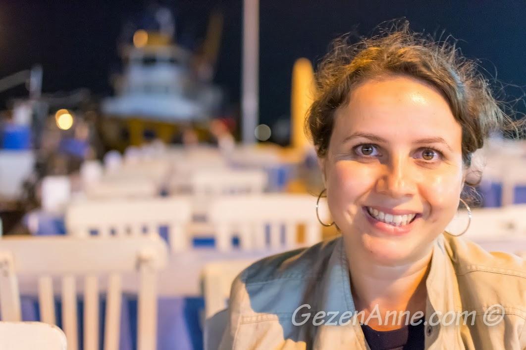 Bozcaada, Koreli Restoran'da denize doğru