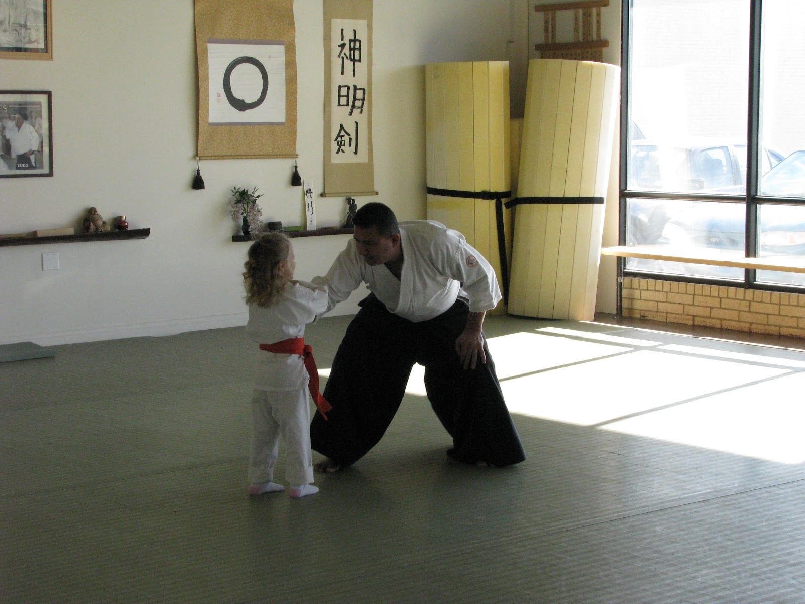 Whitewater visit - Aikido weapons, kids and adults classes