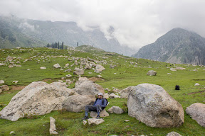 After all the hardship and hours of hike, the trek opens up in the wide meadow.