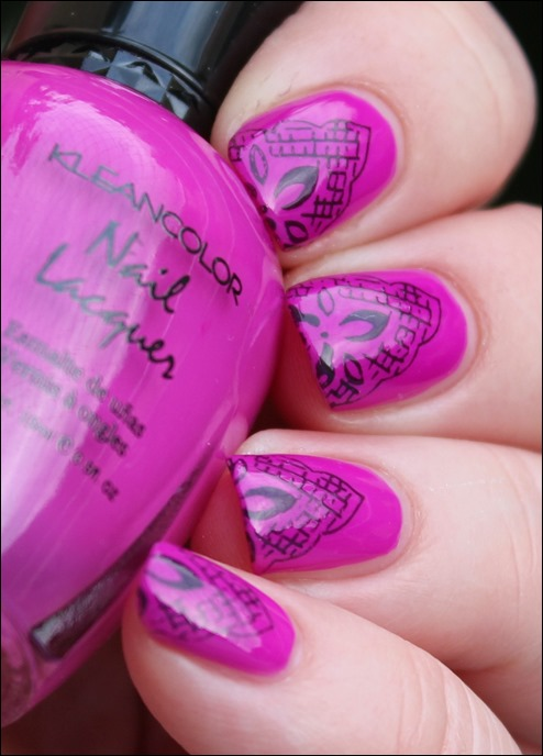 Magenta Lace Nageldesign 3