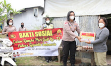 Sambut Hari Jadi Ke-73, Polwan Polres Bengkayang Berbagi Sembako