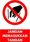 Rambu Dilarang Memasukkan Tangan