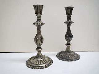 Silver Candlestick Pair